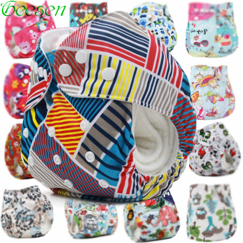 Waterproof  Washable Diaper  With Suede Cloth Inner Baby Reusable Diaper Insert  Boys Cloth Diapers Baby