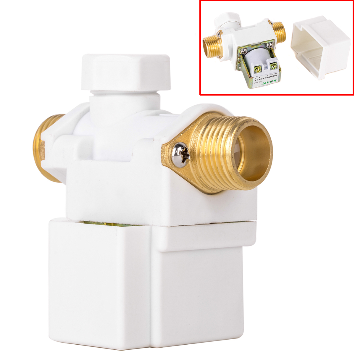 1pc New Mayitr Durable 1/2 Brass Diaphragm Electric Solenoid Valve For AC 220V Water Air N/C Normally Closed Solenoid Valves