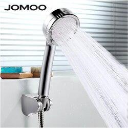 Jomoo duplo purificado de alta pressão cabeça chuveiro poupança água redonda abs handheld chuvas chuveiros douche com suporte mangueira