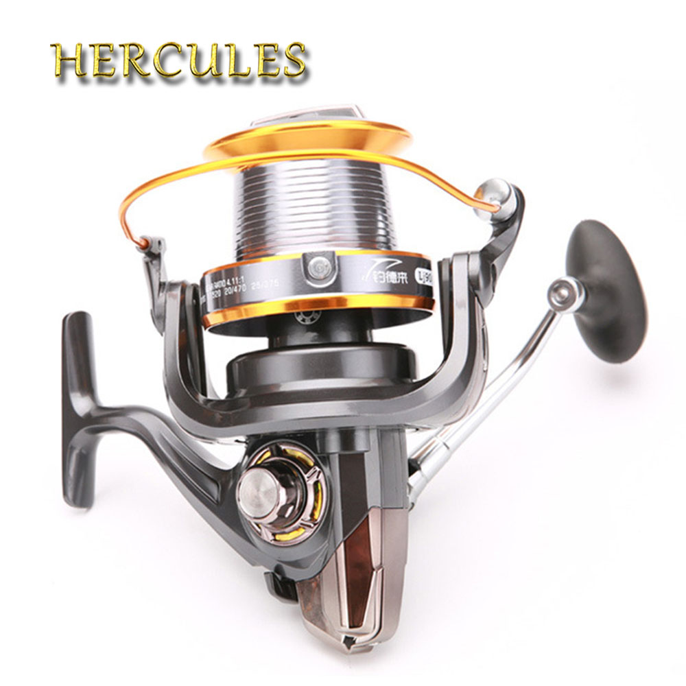 Hercules 12+1 BB 5.2:1/5.1:1/4.1:1 Surf Casting Reel Long Shot Sea Fishing Reels Cast Wheel Spinning Fish Reel 3000-9000 Series 12 1 bb ball bearing left right fishing spinning reels sea fish line reel