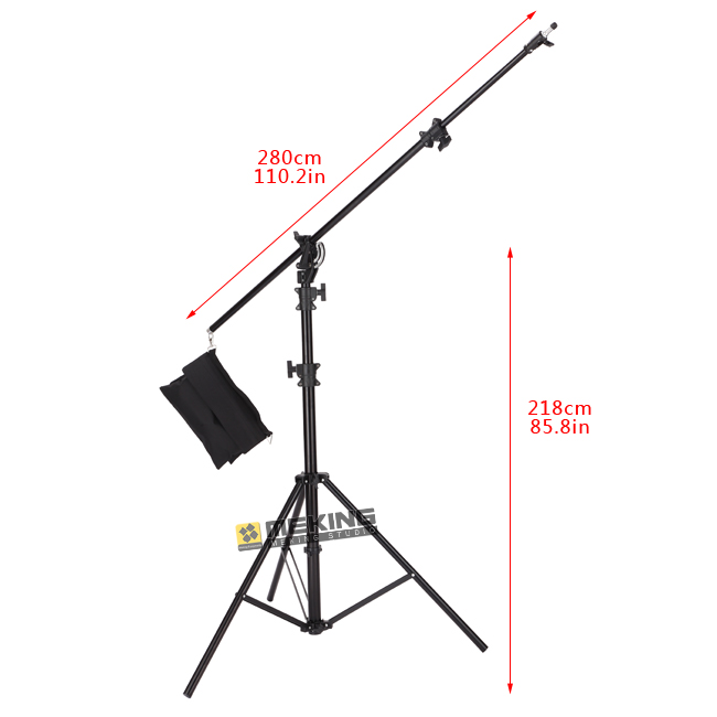 5M Air-Cushion Heavy Duty photographic Light Stand holder Foldable portable with Sand Bag for Photography Studio jb300 pro premium grade light stand 2 8m stand with air cushion professional air cushioned light stand no00dc