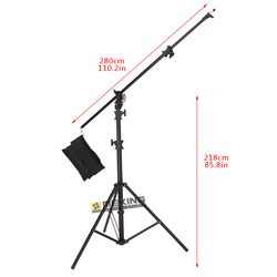 5M Air-Cushion Heavy Duty photographic Light Stand holder Foldable portable with Sand Bag for Photography Studio