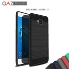 QAZ Maggie Huawei Ascend XT Case Silicone Soft TPU Brushed Carbon Fiber Texture Case For Huawei Ascend XT H1611