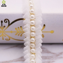 Shuan Shuo White Pearl Bud Silk Playing Zou Lace  For DIY Clothing Wedding Accessories Bow Headwear Accessories y shuo ballade