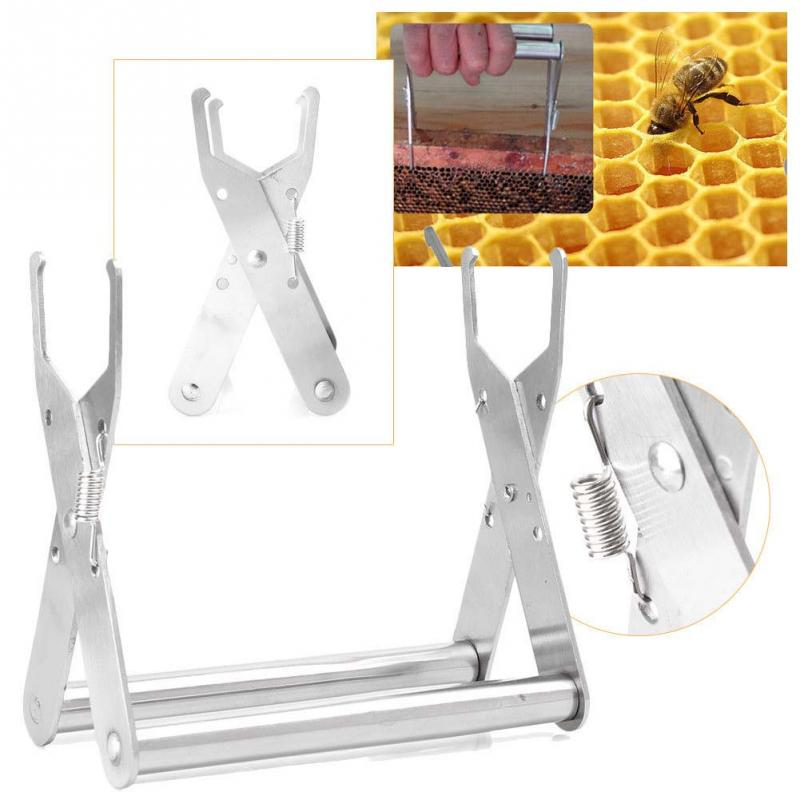 Bee Hive Frame Stainless Steel Holder Capture Grip Beekeeping Accessory Protect Bee Sting Capture Grip Beekeeping Equipment^Bee Hive Frame Stainless Steel Holder Capture Grip Beekeeping Accessory Protect Bee Sting Capture Grip Beekeeping Equipment^