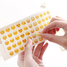 12 Sheets Smile Face Expression Emoji Stickers For Notebook Albums School Teacher Rewards Kids Sticker Gift Children Toys(China)