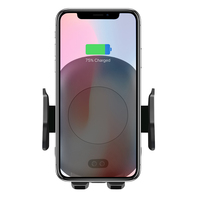 Etmakit Car Mount Qi Wireless Charger For Mobile Phone Quick Charge Fast Wireless Charging Pad Car Holder Stand