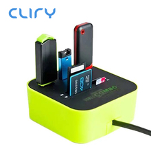 Cliry USB HUB Combo All In One USB 2.0 Micro SD High Speed Card Reader 3 Ports A