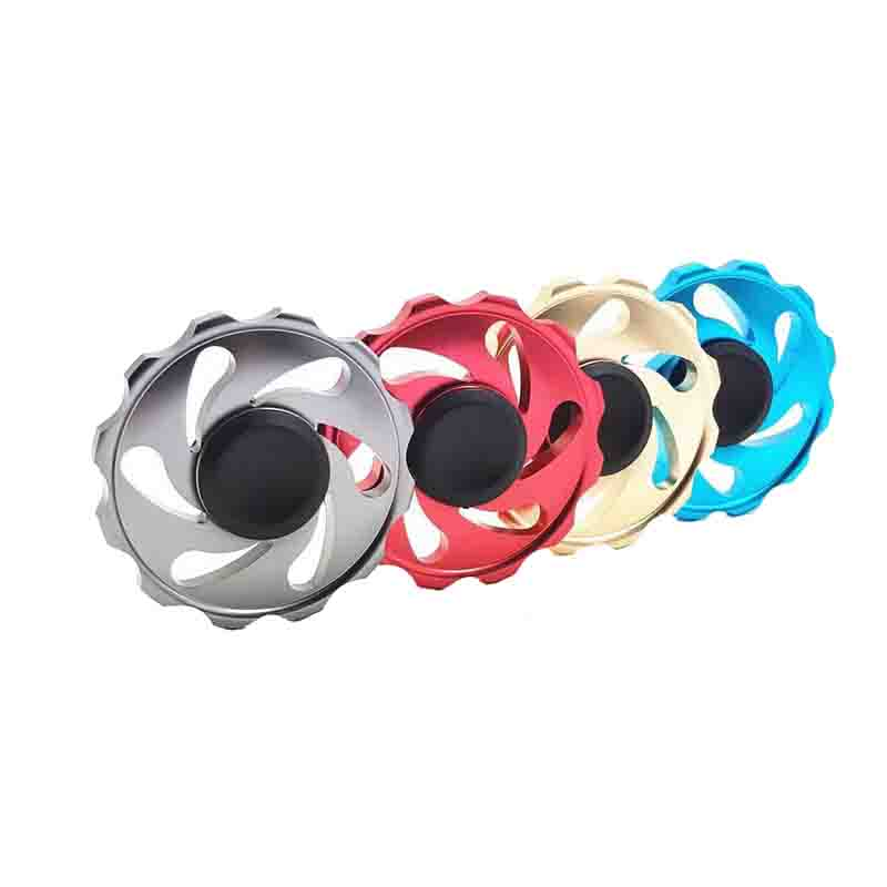 KISSWAWA UFO Wind fire Fidget Hand Spinner Anxiety Stress Wheel Spinner Alloy Puzzle Funny Toys Focus