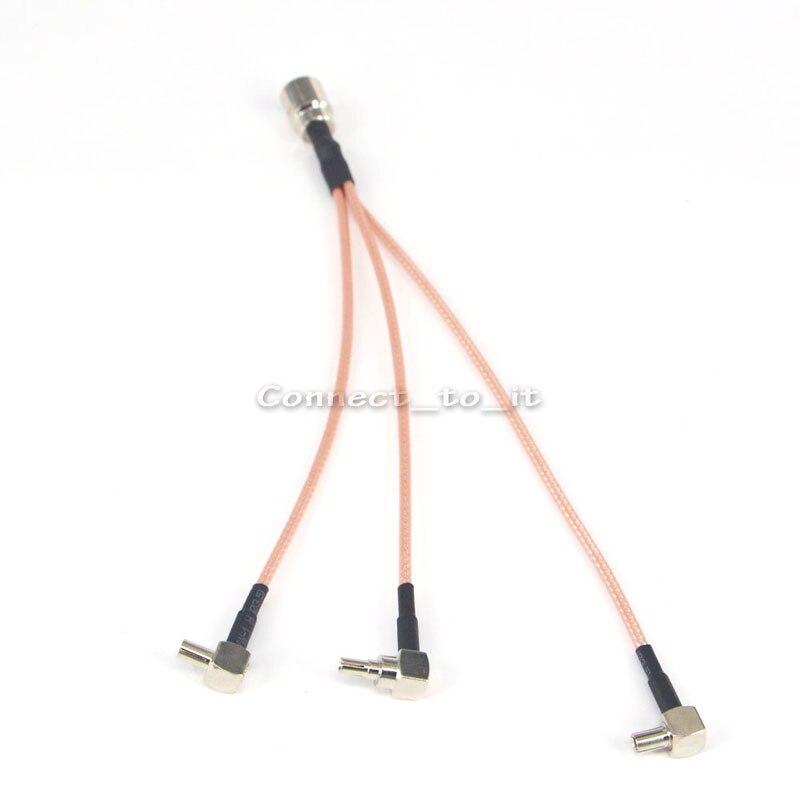 Cavo Coassiale RF FME Maschio a 1 CRC9 Dual 2 TS9 Maschio Connettore A 4 Vie Antenna Estensione Della Treccia del Cavo