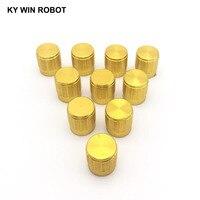 potentiometer knob 10PCS Potentiometer Plastic Knob 15*17MM Gold (4)
