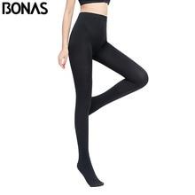 BONAS Women Plus Size Winter Tights High Elastic Velvet Warm Pantyhose Sexy Keep Warm Legins Female High Quality Warm Tights