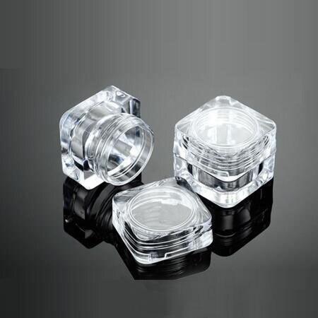Pratique Petit /échantillon clair Mini R/écipient en plastique Bouteille Pot Pots Outils cosm/étiques 5 g Voyage 100pcs 5 ml