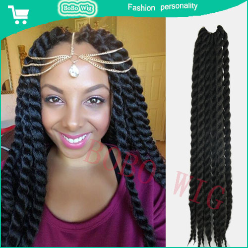 24inch Havana mambo twist braiding hair crochet box braid ...