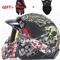 3/4 шлемы moto rcycle ретро с открытым лицом Винтаж гонщик мотошлем rcycle шлем с Закрытая маска