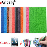 For Apple IPad 9 7 2017 Case PU Leather 360 Rotating Cartoon Tablet Cases For
