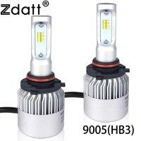 Zdatt 1Pair Super Bright 9005 HB3 LED Headlight Bulb 72W 8000LM Car Led Light CSP 12V