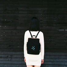 YIZI Fresh Embroidery Canvas Backpacks With Metal Frame Clasp For Teenage Girls(FUN KIK)