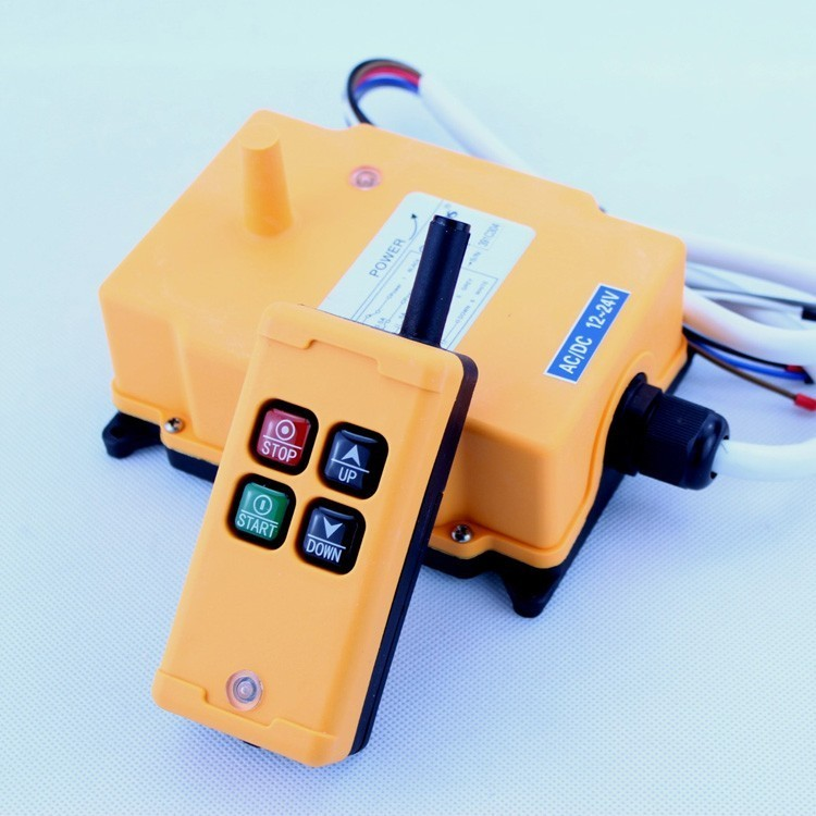 HS-4 12V 4 Channels 1 Speed Control Hoist industrial wireless Crane Radio Remote Control System No Battary 24v hs 4 1 receiver 1 transmi speed control hoist industrial wireless crane radio remote control system no battary