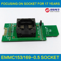 eMMC socket test flash memory chip eMMC153 socket eMMC169 BGA169 socket BGA153 for Android phone flash data backup data recovery