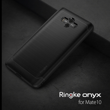 Ringke Onyx for Huawei Mate 10 Case Flexible Tpu Cover  Fitted Case Military Grade Protection Black Case for Mate 10