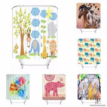 Custom Indian Pattern Waterproof Shower Curtain Home Bath Bathroom s Hooks Polyester Fabric Multi Sizes#0421-Sina-15(China)