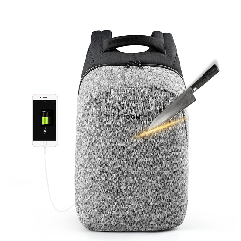 2018 DQM superiore qualità di taglio resistente 15.6 cerniere impermeabili casual nero sacchetto del pacchetto maschio mochila zaino del computer portatile