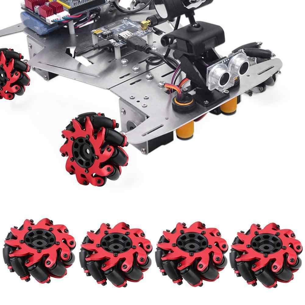 2/4 pcsToy Auto Model Drive Wiel 60 MM RC Robot Accessoire Omnidirectionele Wielen voor Mecanum RC Auto Onderdelen RC Banden Accessoires