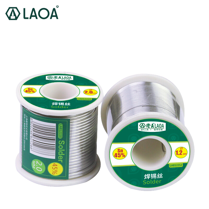 цена на LAOA 380G New 45% Rosin Core Roll Solder Welding Wires Reel Soldering Tin Lead