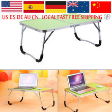 Portable Multifunctional Computer Desk Camping Outdoor Furniture Foldable Picnic Table Dormitory Bed Notebook Desk(China)