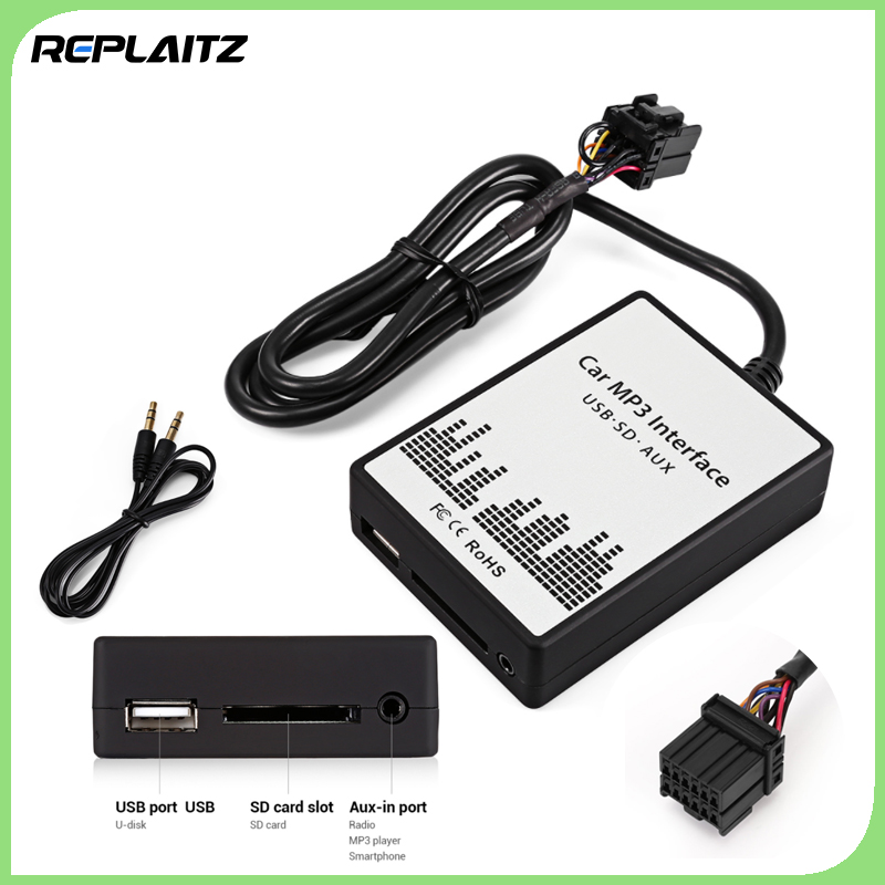 SD Data Cable Audio Digital CD Changer for Audi Elektrofahrräder Car MP3 Interface USB