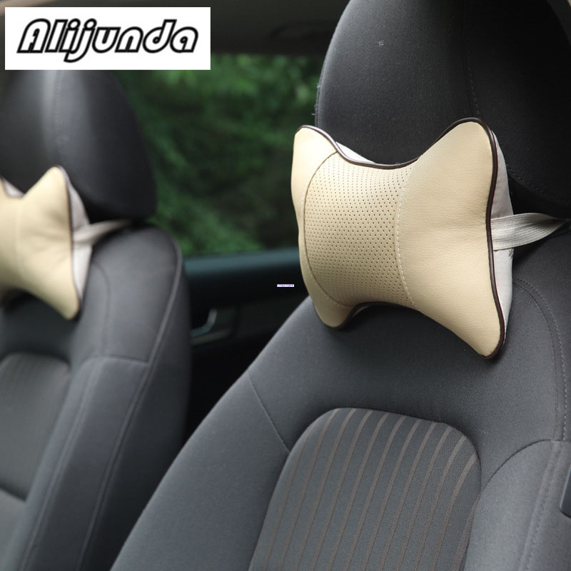 2x Car Headrest Neck Pillow Seat Cushion For Chevrolet Cruze Trax Aveo Lova Sail Epica Captiva Volt Camaro Cobalt Quality First Car Stickers