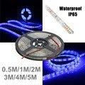3528 SMD 0.5/1/2/3/4/5M 60LED UV Lamp Ultraviolet Light Purple Led Strip Light Waterproof IP65 Black Lamp DC12V