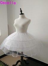 Взрослых короткие косплей Лолита Нижняя юбка для свадьбы Выпускные платья Свадебные аксессуары