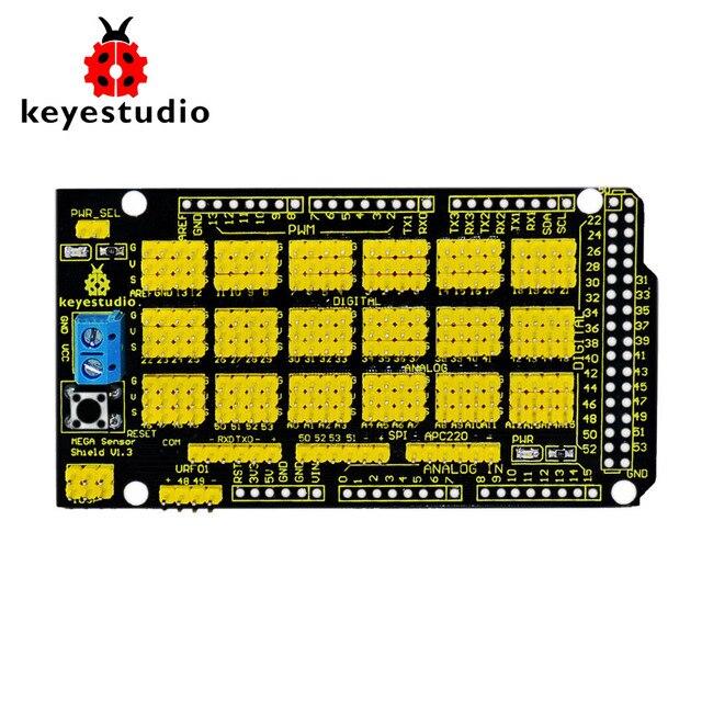 Бесплатная доставка! Новинка 2015! Keyestudio Мега Сенсор щит V1 для Arduino MEGA