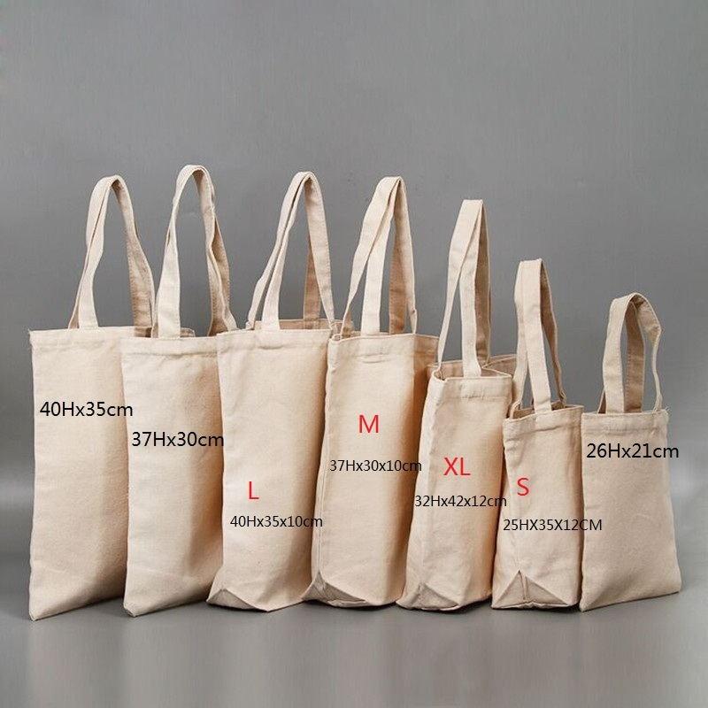 100Pcs/Lot Custom Less MOQ Handbags Canvas Tote Bags Reusable Cotton Grocery High Shopping Bag