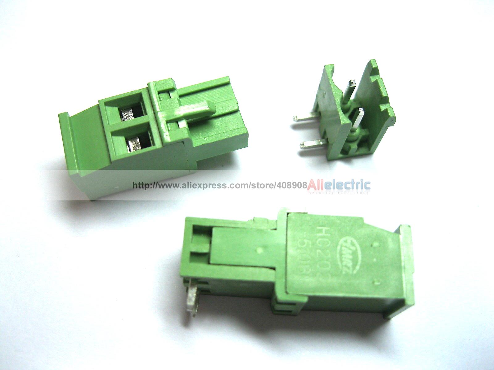 36 Pcs 5.08A 5.08mm Angle 2 Pin Screw Terminal Block Connector Pluggable Type 30 pcs 5 08mm angle 16 pin screw terminal block connector pluggable type green