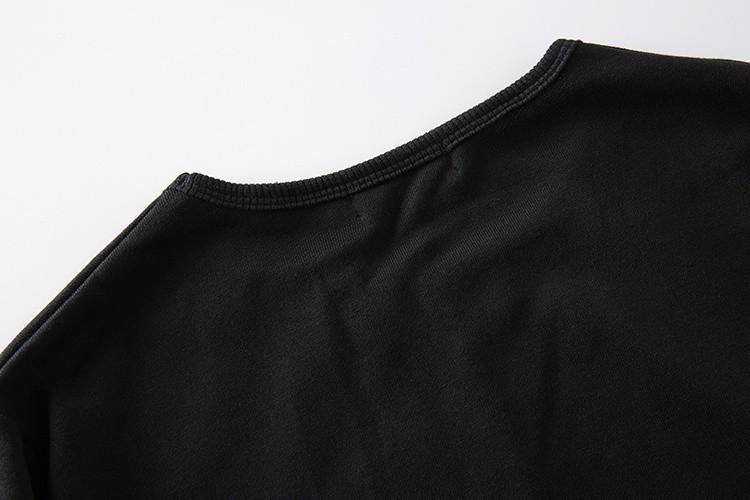 Cross Printed Hip Hop Sweatshirt Men 17Spring Streetwear Curved Hem Side Zipper Plain Mens Sweatshirts and Hoodies Man Clothes 45