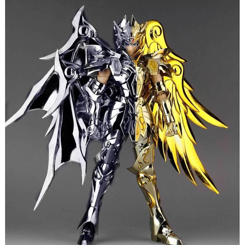 New GT Great Toys Saint Seiya Myth Soul of God Gold EX Gemini SaGa metal armor Myth Cloth God Action Figure Collection Toy anime action figure saint seiya myth cloth nordic god fighter alkaid red meem metal armor collectible model