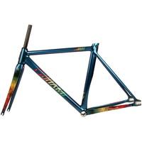 TSUNAMI Single speed Bicycle Fixed Gear Frameset Aluminium Frame with Carbon Fork 700c*52cm 55cm Chameleon Bike Frameset