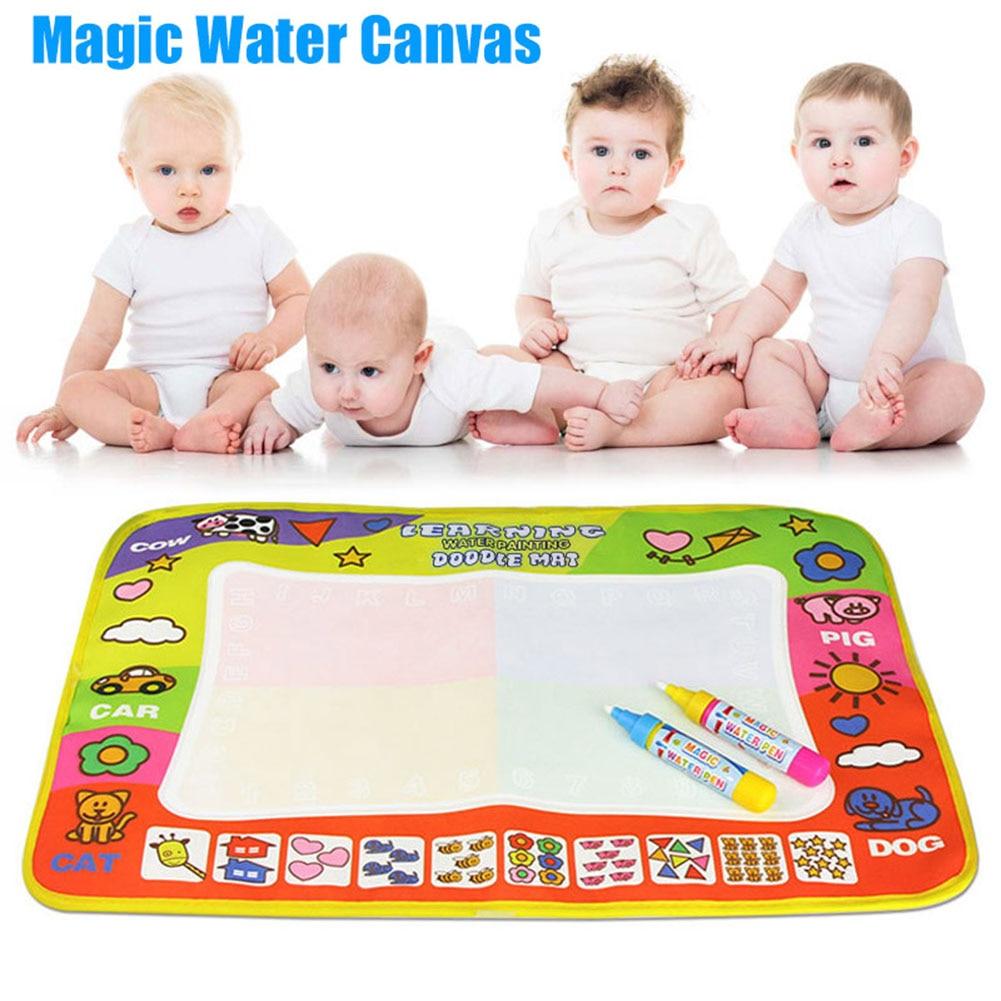 Children Kids Play Mats Doodle Mat Board Water Aqua Painting Drawing Large Writing Magic Toy  Dropshipping