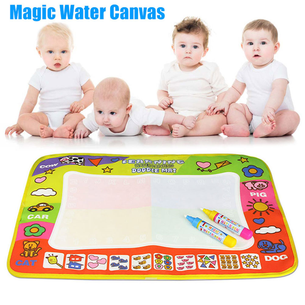 Children Kids Play Rug Mats Doodle Mat Board Water Aqua Painting Drawing Large Writing Magic Toy  Dropshipping