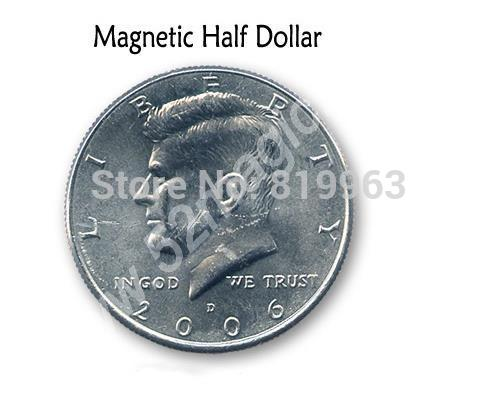 Free Shipping Magnetic US Half Dollar (Real Coin Version)-Magic Trick,Accessories,Stage Magic Props,Close Up ...