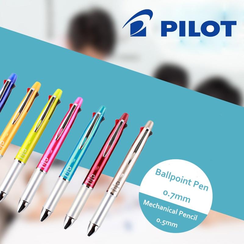 Japan Pilot Dr.Grip 4+1 Multi-Function Pen Ballpoint pen 0.7mm Black, Blue, Green, Red + 1 Mechanical Pencil 0.5mm BKHDF-1SR novelty syringe style ballpoint pen yellow red blue green 4 pcs