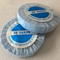 1 roll 36 yards Blue lace front wig tape toupee adhesive tape hair system tape width 2.54