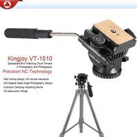 Kingjoy 360 Rotatable Design Camera Tripod Action Drag Pan Head Video Tripod Drag Head For DSLR Camera Camcorder