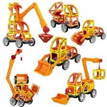 ФОТО 60pcs magnetic designer engineering vehicle construction set educational diy intelligence toy for children amazing birthday gift