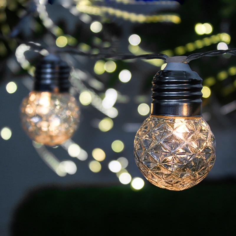 led string luzes de fadas guirlandas solares jardim natal decorativo led solar luzes da corda ao