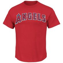 Los Angeles Angels Majestic Cotton T Shirt Mens Baseball Tee New Red M5300 Tshirt Tops Summer Cool Funny T-Shirt Retro