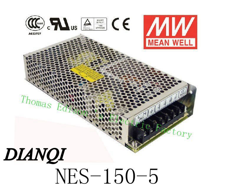 Original MEAN WELL power suply unit ac to dc power supply NES-150-5 130W 5V 26A MEANWELL original mean well nes 350 12 ac to dc single output 350w 29a 12v meanwell power supply nes 350